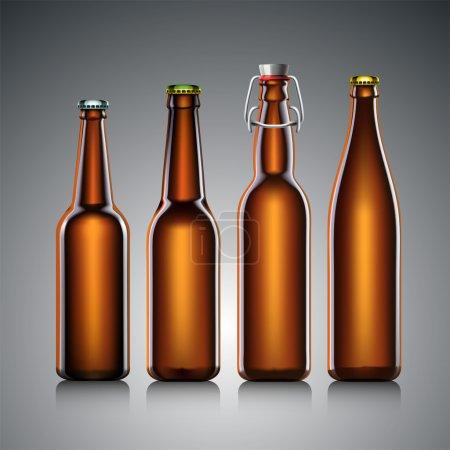 Beer bottle set with no label