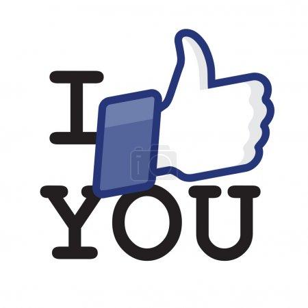 Illustration pour Comme Thumbs Up icône symbole - Je vous aime, vecteur Eps10 illustration . - image libre de droit