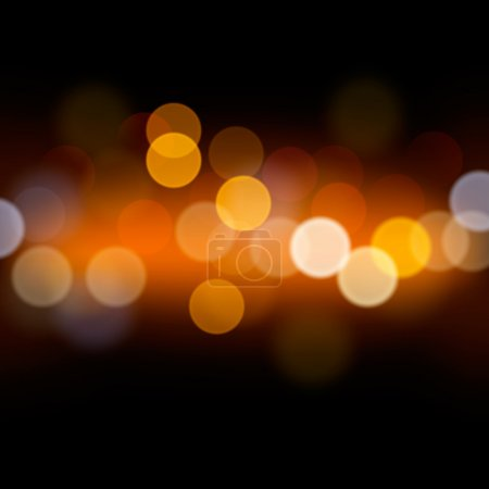 Illustration for Festive background with defocused lights, vector Eps10 image. - Royalty Free Image