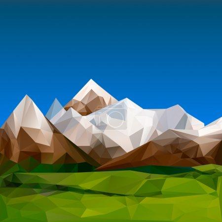 Illustration pour Terrain montagneux, fond polygonal, vecteur Illustration Eps10 . - image libre de droit