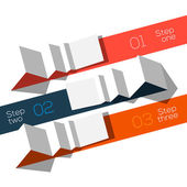 Modern design info graphic template origami styled