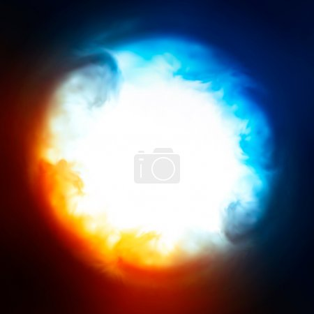 Photo for Explosion in the sky, vector Eps10 illustration. - Royalty Free Image
