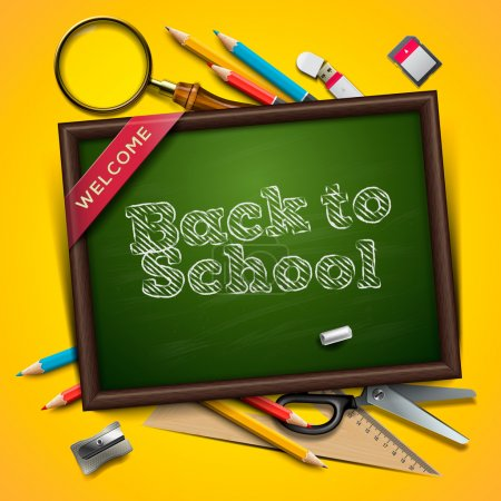 Illustration for Welcome back to school, vector Eps10 illustration. - Royalty Free Image