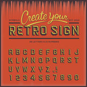 Retro type font vintage typography vector Eps10 illustration