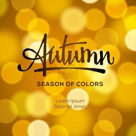 Illustration for Autumn defocused gold background, vector Eps10 illustration. - Royalty Free Image