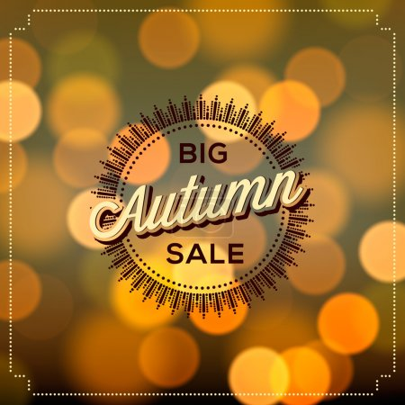 Autumn Sale poster bokeh background