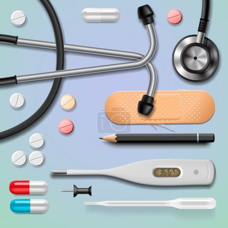 Illustration for Medical equipment, isolated, vector Eps10 image. - Royalty Free Image