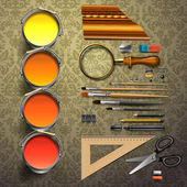 Group art supplies