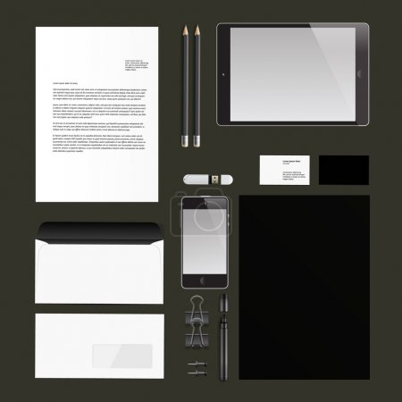 Photo for Corporate identity templates, Vector Eps10 illustration. - Royalty Free Image