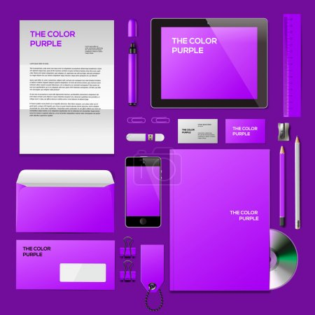 Purple Corporate ID mockup