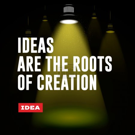 Idea concept. Ideas are the roots of creation.