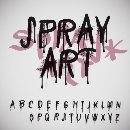 Illustration for Graffiti splash alphabet, vector Eps10 image. - Royalty Free Image
