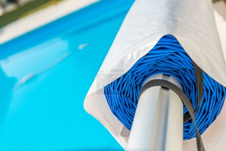 Photo for Swimming pool cover - Royalty Free Image