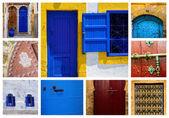 Windows and doors oriental in the medina