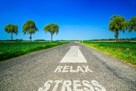 metaphor about the stress and wellness