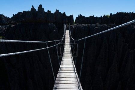 Wooden bridge in Madagascar