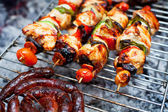 Grilled meats and chicken