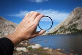 Broken lens protection glass