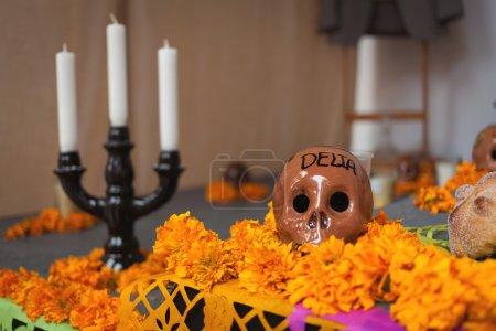 Photo pour Autel des morts est un attribut obligatoire de la traditionnelle fête des morts - image libre de droit