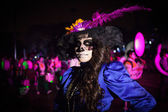 AGUASCALIENTES, MEXICO, NOV 02: Unknown woman on a carnival of t