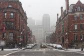 The winter in Boston