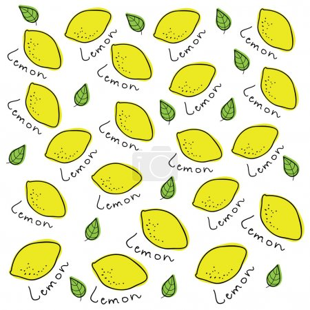 Vector background made of lemons