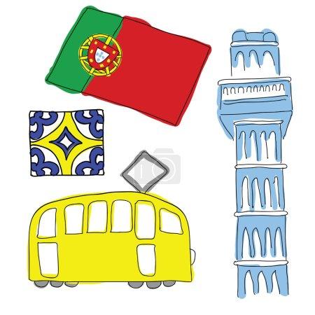 vecteur des symboles du portugal