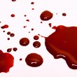Blood stains on a white background...