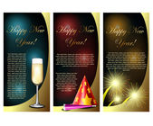 New Year card set