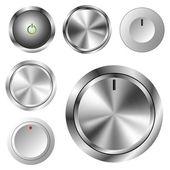 Different metal and plastic volume knob set eps10