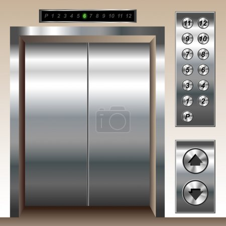 Elevator set with big button templates...