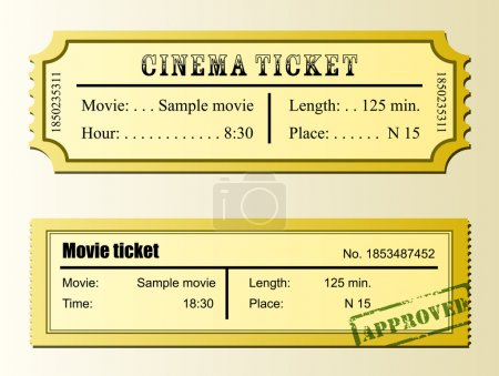 Cinema movie ticket
