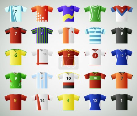 Soccer jersey t-shirt set