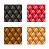 Leather sofa pattern set in different color variations