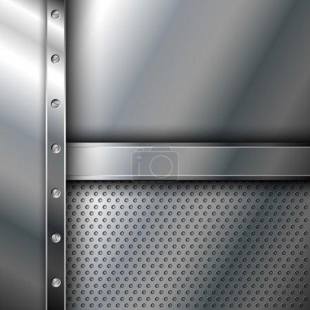 Illustration pour Fond métallique avec vis eps10 - image libre de droit