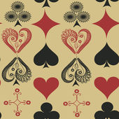 Seamless pattern of suits of playing cards