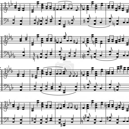 Seamless pattern of music stave notes