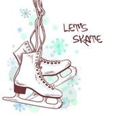 Winter illustration with skates