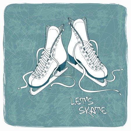 Illustration with figure skates