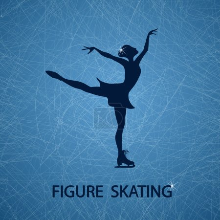 Illustration with figure skater
