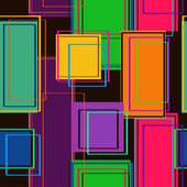 Abstract geometric seamless pattern of colorful rectangles