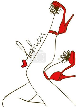 Female legs in high heels