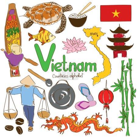 collection d'icônes vietnamiens