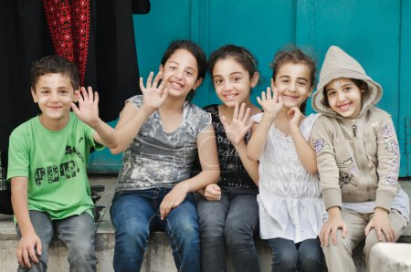 Happy, beautiful, welcoming children of Palestine. Joy, smiles, friendship.