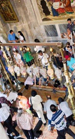 Pilgrims. Shrine. Holy Sepulcher. Jerusalem. Israel
