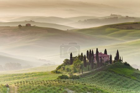 Early morning on countryside, Tuscany, Italy