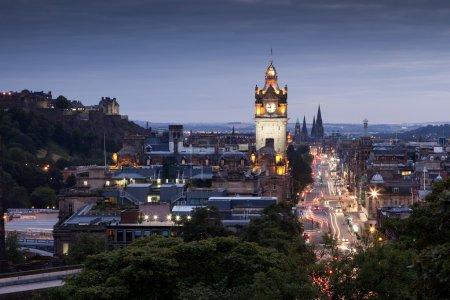 Photo for Evening cityscape of Edinburgh, Scotland, UK - Royalty Free Image