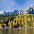 High Tatras mountains in fall with famous lake Str...