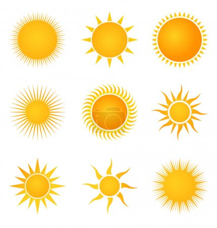 Illustration for Sun set icons - Royalty Free Image