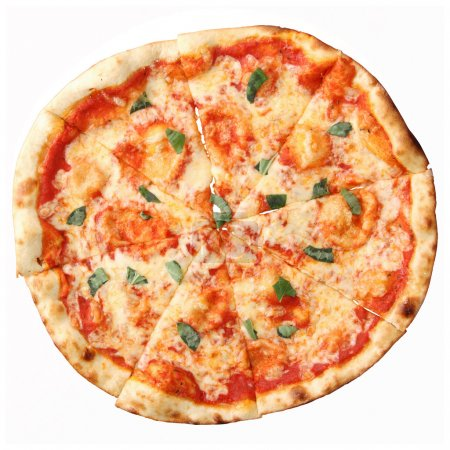 Top view of pizza Margherita
